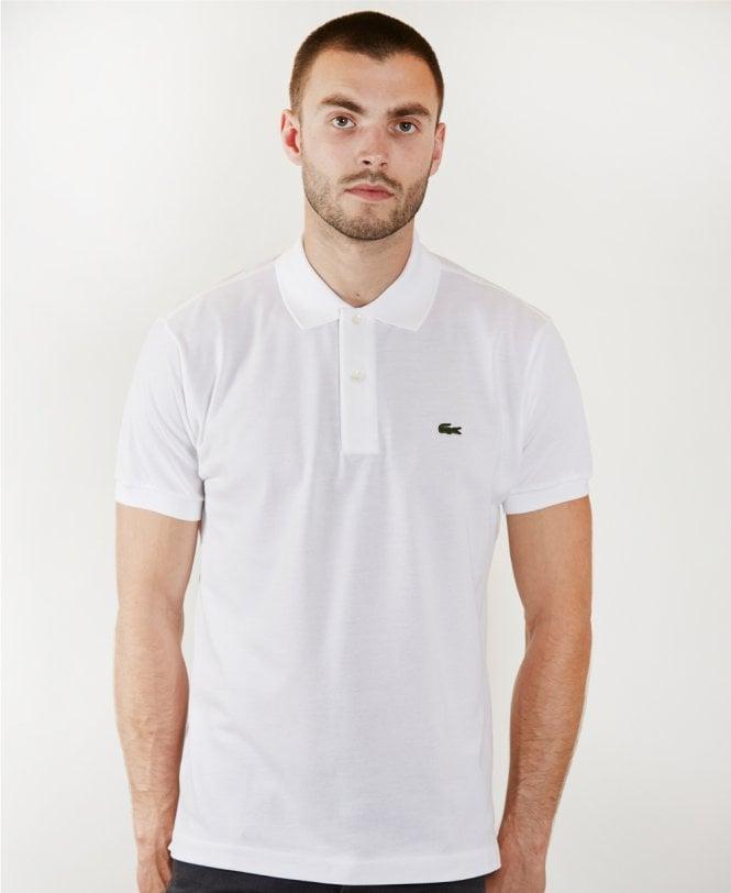 sélection premium 32ead 1dd8d Lacoste White Short Sleeve L1212 Polo Shirt