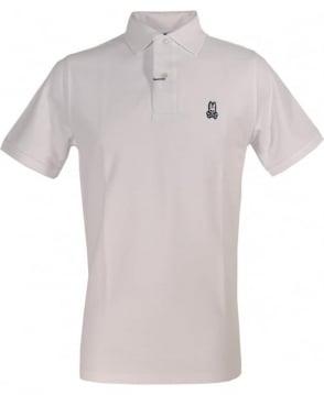 Psycho Bunny White Short Sleeve Logo Polo