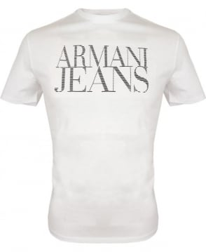 Armani Jeans White Short Sleeved Crew Neck T-shirt