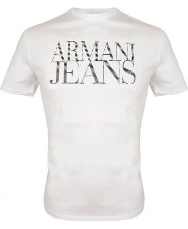 Armani White Short Sleeved Crew Neck T-shirt