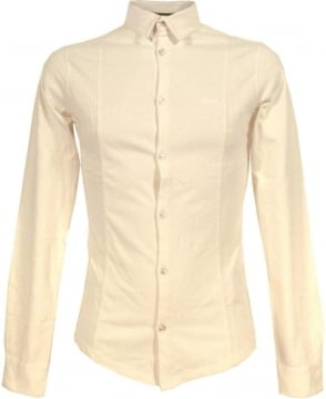 Armani Jeans White Slim Fit B6C80 Shirt