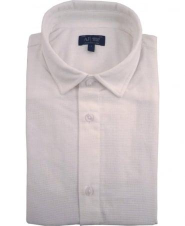 Armani White Slim Fit C6C25BE Short Sleeve Shirt