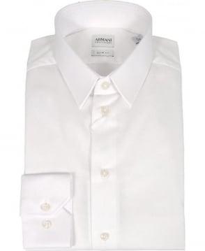 Armani White Slim Fit Collezioni Shirt