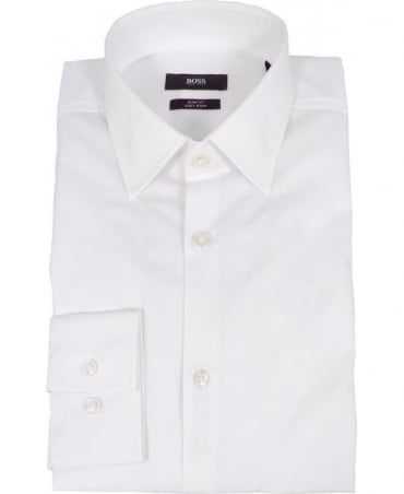 Hugo Boss White Slim Fit Jenno Shirt