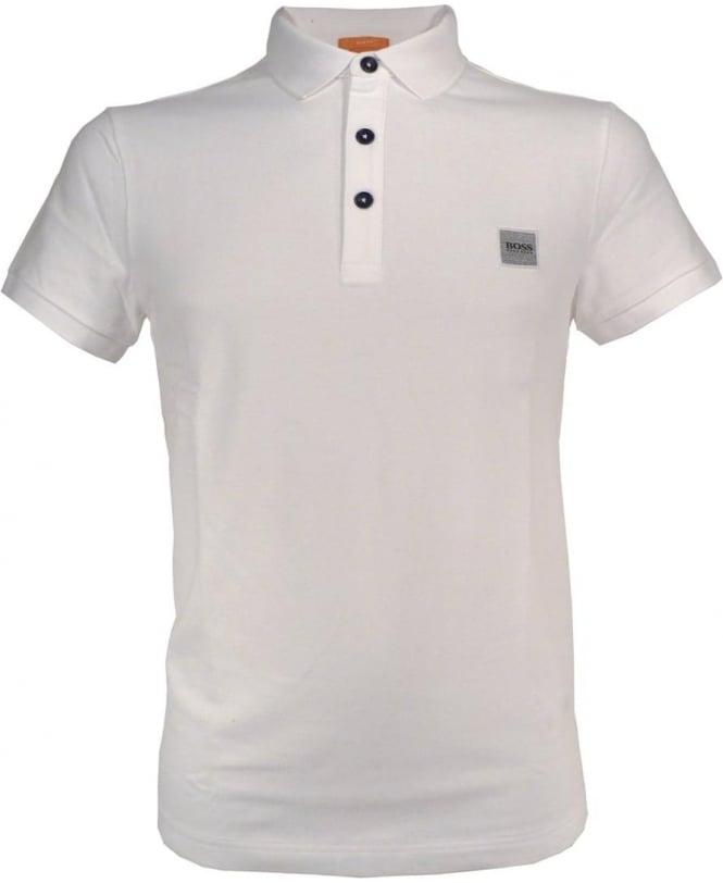 Hugo Boss White Slim Fit 'Pavik' Polo Shirt