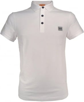Hugo Boss White Slim Fit 'Pavik' Polo Shirt