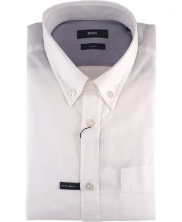 Hugo Boss White Slim Fit Ruben Shirt
