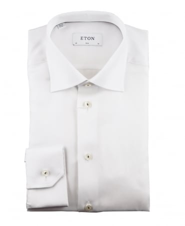 Eton Shirts White Slim Fit Signature Twill Shirt