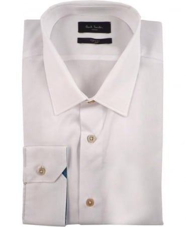 Paul Smith - London White Soho PPXL-800P-R02 Striped Cuff Shirt