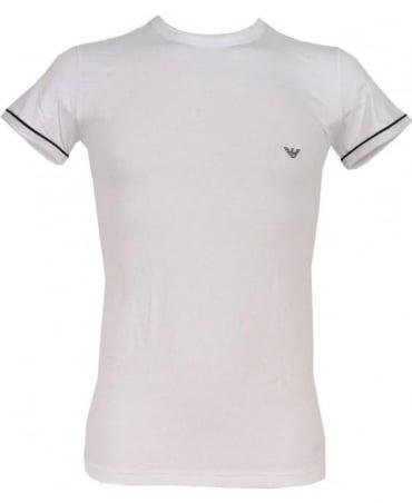 Emporio Armani  White Stretch Cotton Crew Neck T-shirt