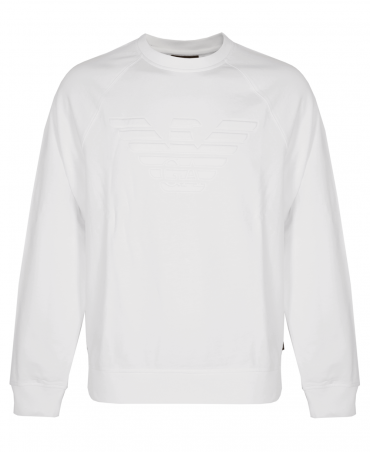 White Stretch Sweatshirt With Logo