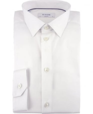 Eton Shirts White Super Slim Fit Poplin Shirt