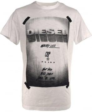 Diesel White T-Diego-HN T/Shirt