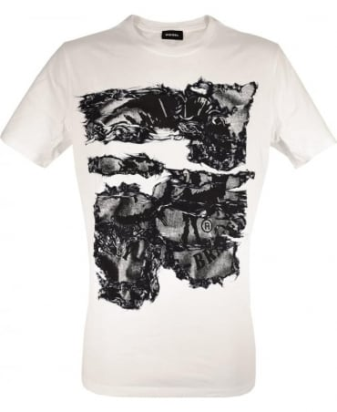 Diesel White T-Joe Crew Neck T-Shirt