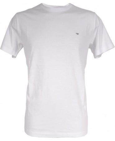 Diesel White T-Zosimos Chest Logo Crew Neck T-shirt