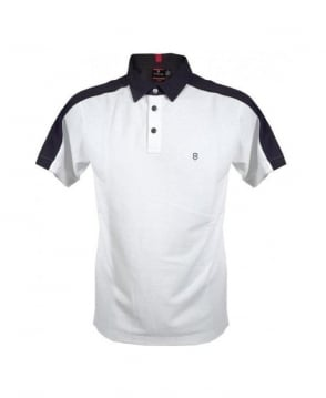 Victorinox White Tailor Fit Lucerne Polo
