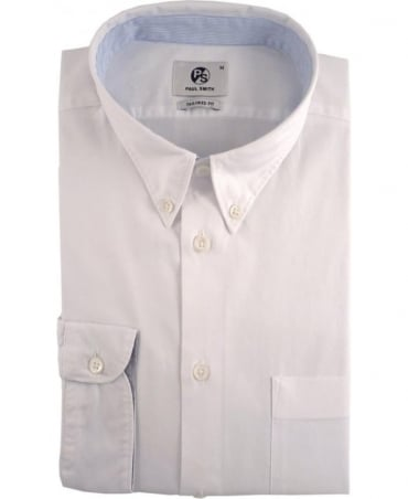 PS by Paul Smith White Tailored Fit Button Down Shirt