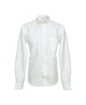 Eton Shirts White Textured Finish Slim Fit Shirt