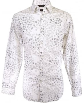 Paul Smith  White The Byard PKXL/916M/F77 Floral Shirt