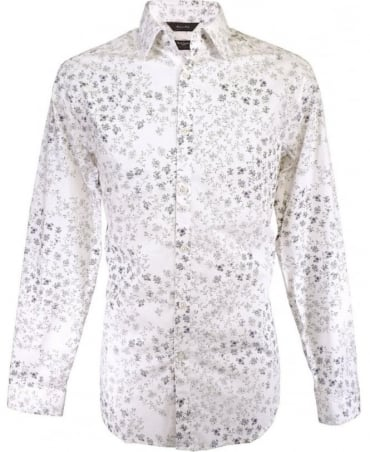 Paul Smith - London White The Byard PKXL/916M/F77 Floral Shirt