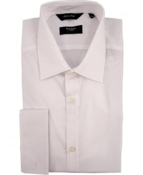 Paul Smith - London White The Byard PNXL-020N-M01STR Double Cuff Shirt
