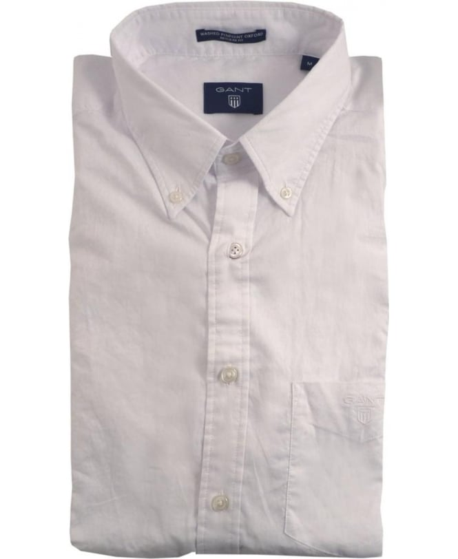 gant white the washed pinpoint oxford shirt