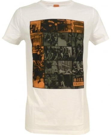 Hugo Boss White 'Timblin 1' T-Shirt