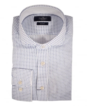 White Trevi Floral Slim Fit Shirt