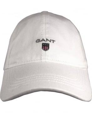 Gant White Twill 90000 Adjustable Cotton Cap