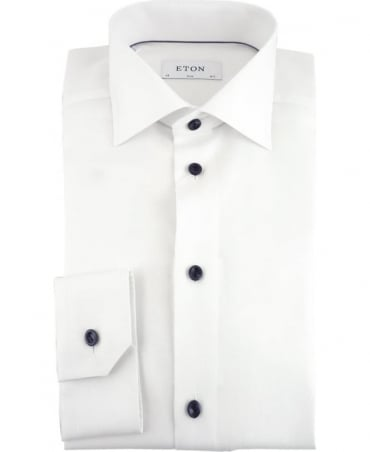Eton Shirts White Twill Slim Fit Shirt
