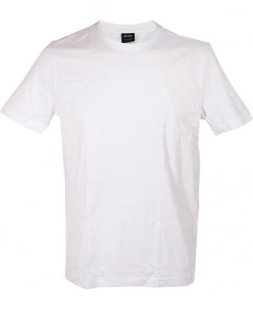 Hugo Boss White Twins 50247176 Crew Neck T-shirt