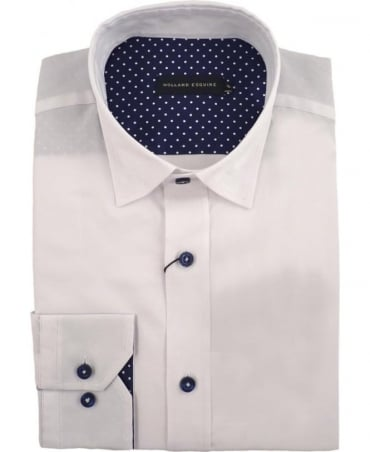 Holland Esq White Under Collar Button Shirt
