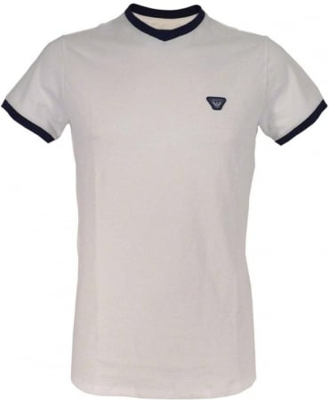 Armani White V-Neck C6H08QK T/Shirt