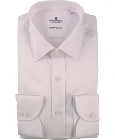 Emanuel Berg White Warsaw Slim Fit Shirt