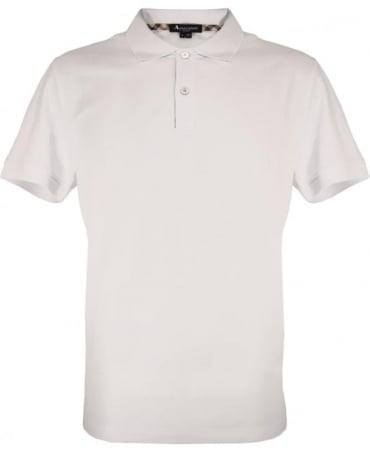 Aquascutum White With Club Check Hector Polo Shirt