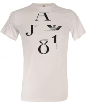 Armani White with Logo 6X6T02 Crew Neck T/Shirt