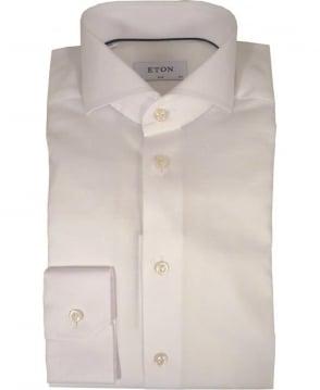 Eton Shirts White Woven Micro Pattern Shirt
