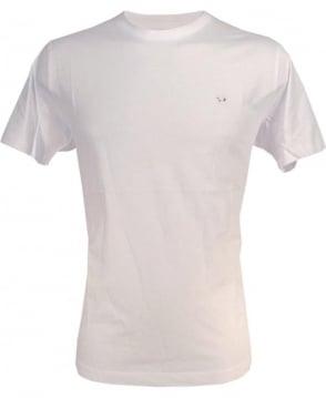 Diesel White Zosimos Chest Logo Crew T-Shirt