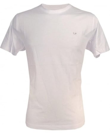 Diesel White Zosimos Chest Logo Crew T-Shirt