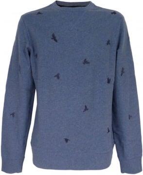 Hugo Boss 'Wilcott' Sweatshirt In Blue