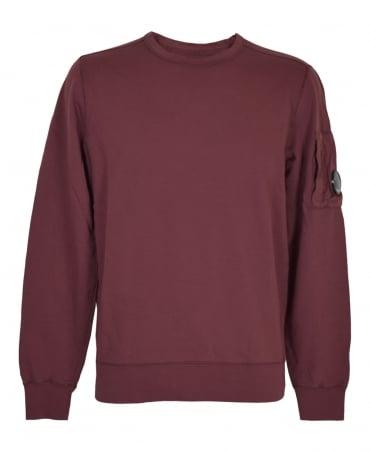 CP Company Wine MSS036A Lens Sweatshirt
