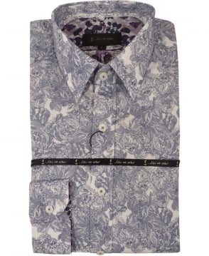 1 ...Like No Other Wireless Print Shirt In White