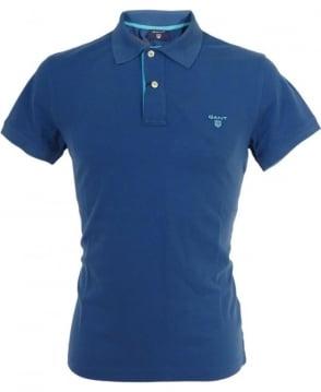 Gant Yale Blue Contrast Logo Polo
