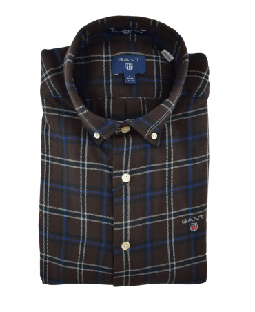 Yale Blue Reflective Check Shirt