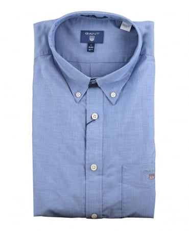 Yale Blue 'The Plain Broadcloth' Shirt