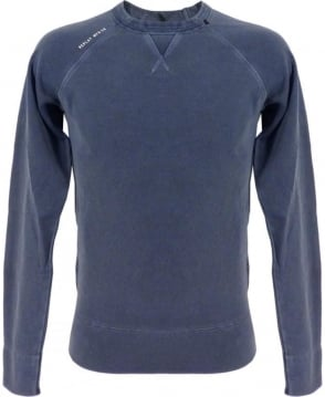 Replay Yarn-Dyed Cotton Sweatshirt In Blue