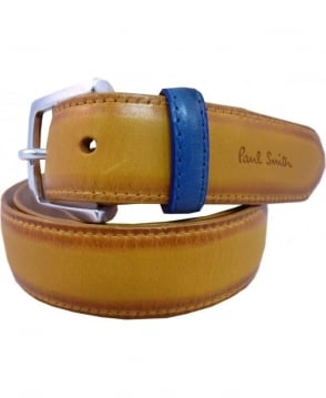 Paul Smith - Accessories Yellow Burnished Suit Belt