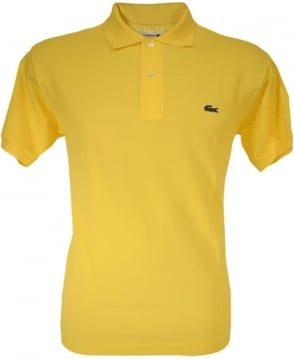 Lacoste Yellow Classic Fit Polo Shirt