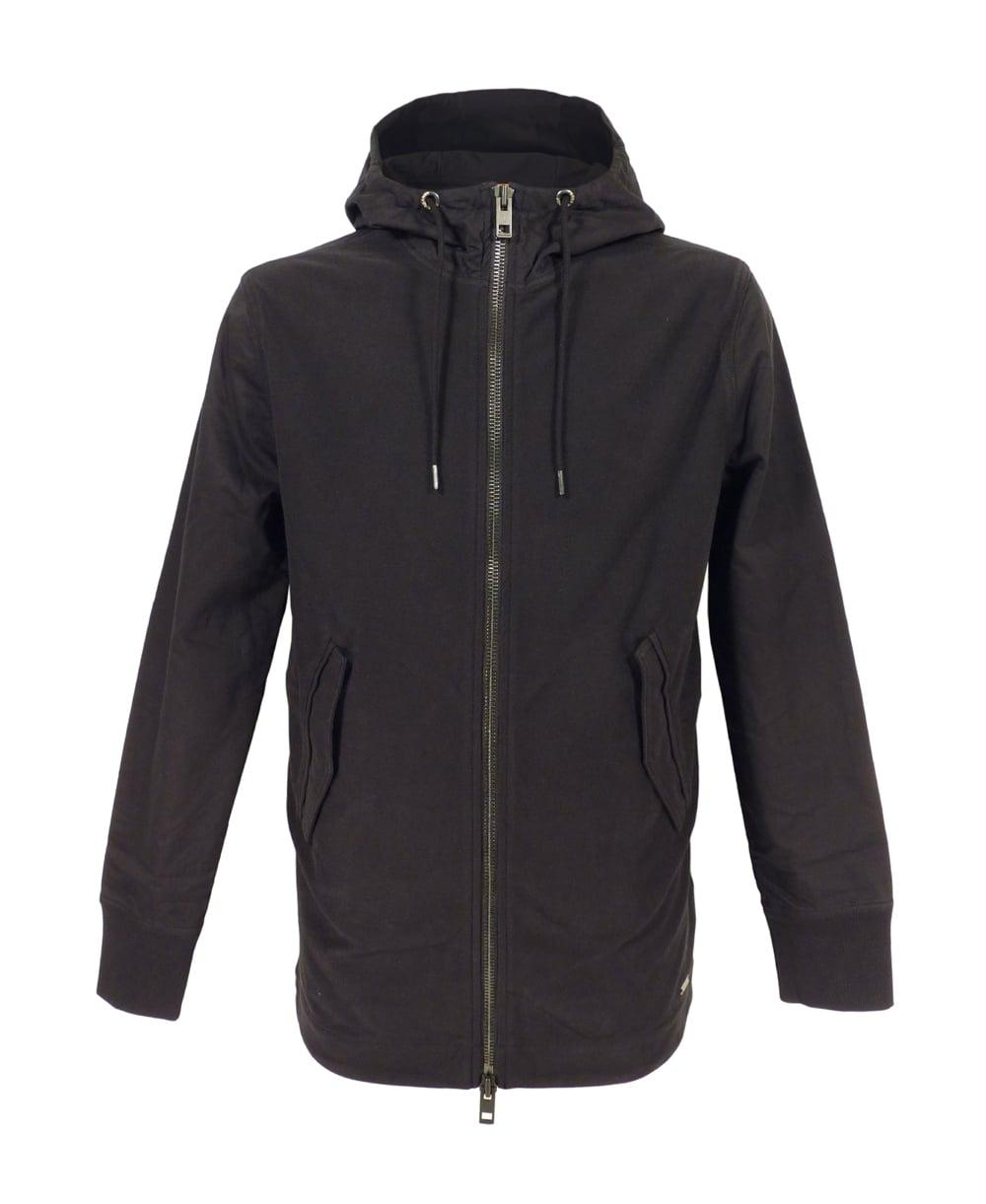 hugo boss 39 zoot 39 hooded sweatshirt in black hugo boss. Black Bedroom Furniture Sets. Home Design Ideas