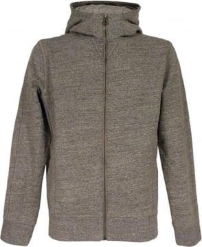 Hugo Boss 'Ztadium' Hooded Sweatshirt In Light Grey